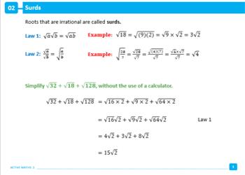 Maths 3 1 active book