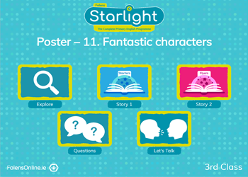 Oral Language Poster: Fantastic Characters