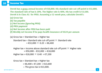 Income Tax and Deductions
