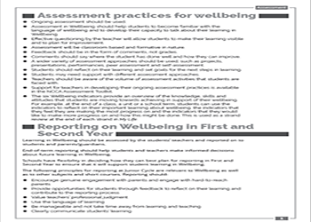 Assessment and reporting practices