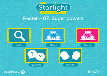 Oral Language Poster: Super powers