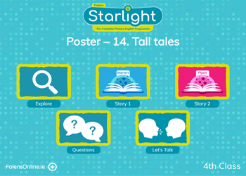 Oral Language Poster: Tall tales