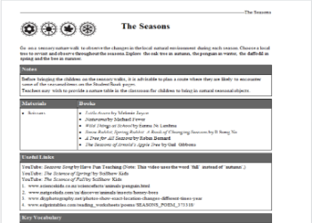 The Seasons: Theme Plan